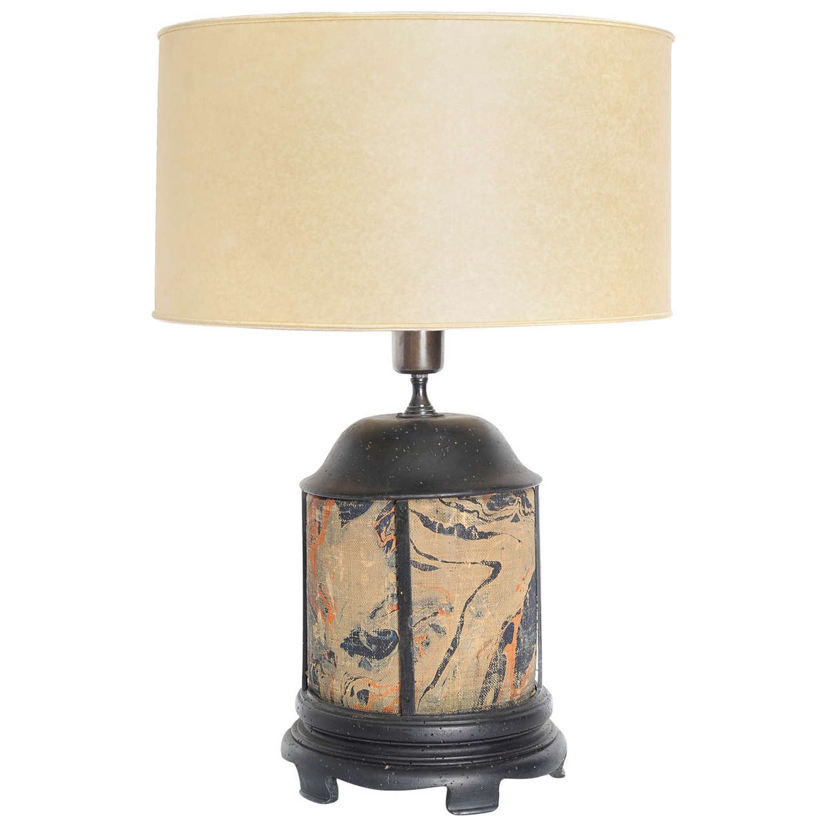 Antique table lamps online shop shop antique table lamps at pamono antique hand painted fabric wood table lamp geotapseo Choice Image