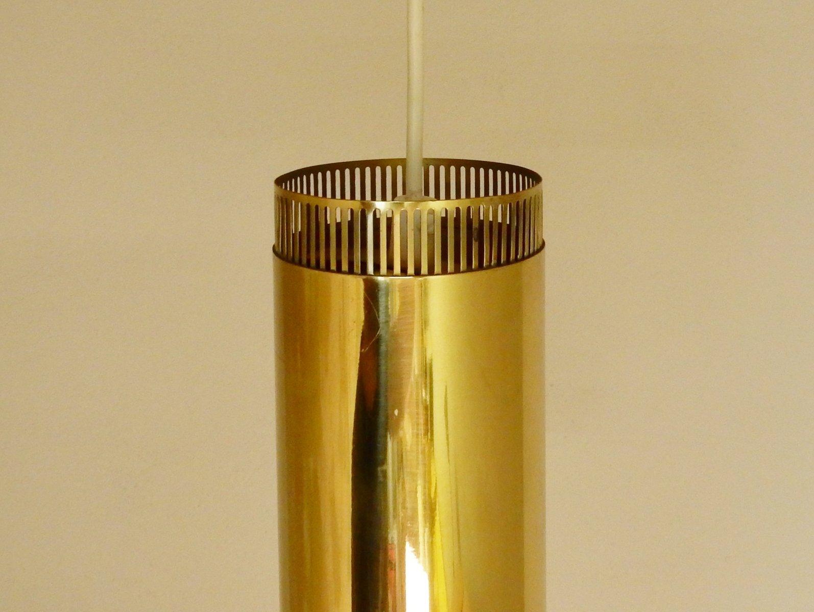 Scandinavian Brass Pendant Lights 1960s Set Of 3 For