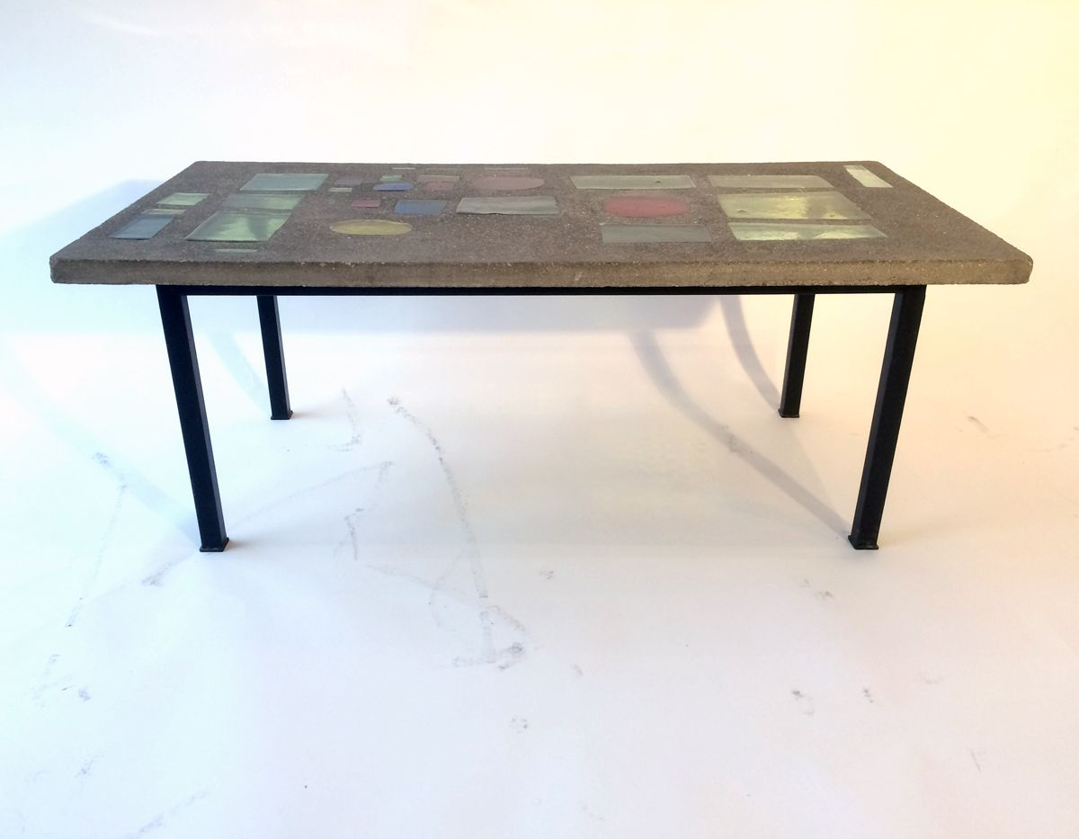 vintage tisch von jacques avoinet bei pamono kaufen. Black Bedroom Furniture Sets. Home Design Ideas