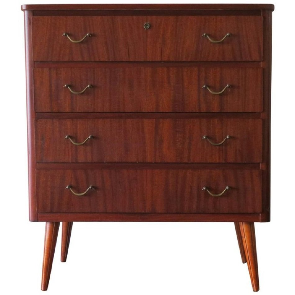 schwedische mid century teak kommode 1960er bei pamono kaufen. Black Bedroom Furniture Sets. Home Design Ideas