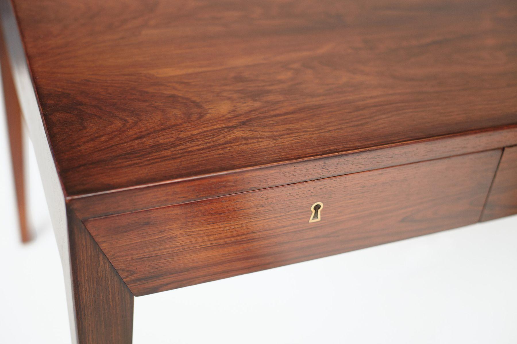 palisander schreibtisch von severin hansen f r haslev. Black Bedroom Furniture Sets. Home Design Ideas