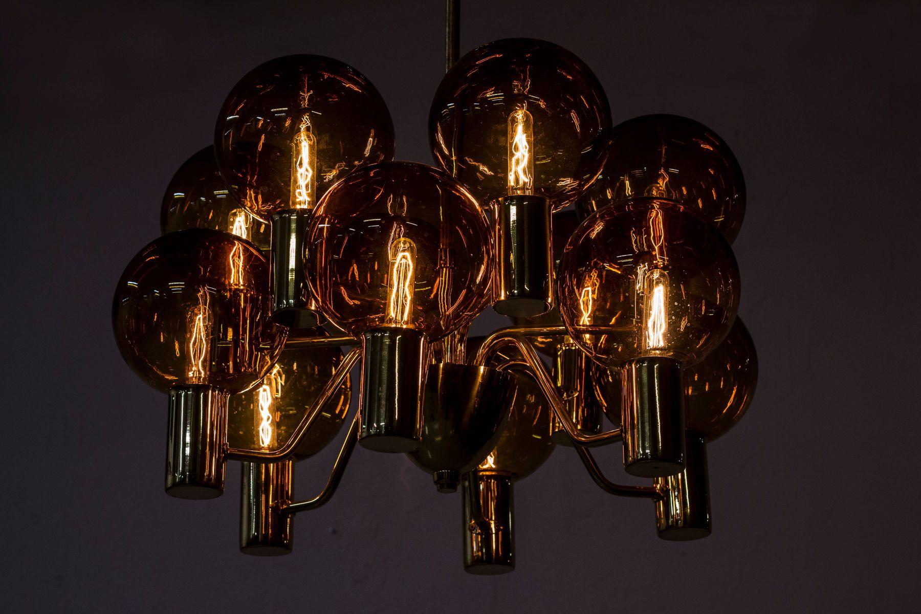 mid century swedish chandelier by hans agne jakobsson for. Black Bedroom Furniture Sets. Home Design Ideas