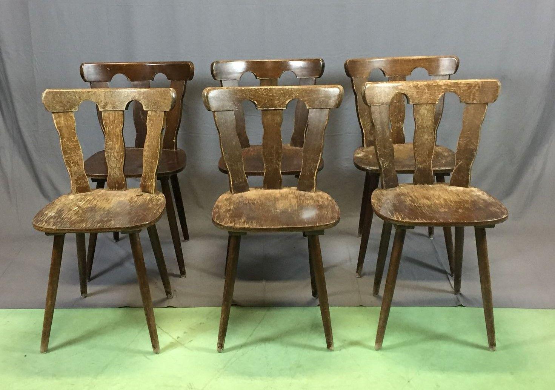 Sedie anni 39 70 set di 6 in vendita su pamono for Sedie design anni 70