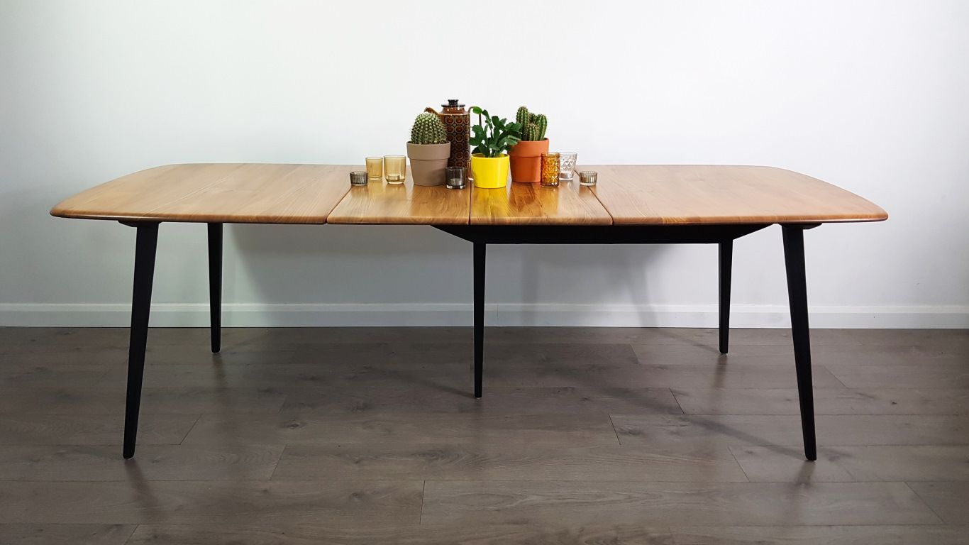 Table de salle manger rallonge par lucian ercolani for Salle a manger annee 1960