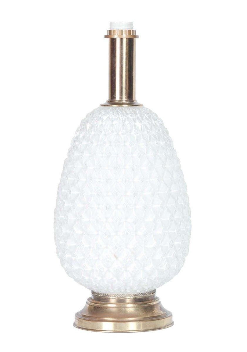 lampe aus opalglas messing 1950er bei pamono kaufen. Black Bedroom Furniture Sets. Home Design Ideas