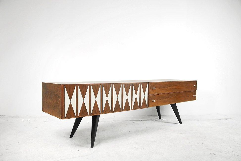 skandinavisches sideboard mit muster 1970er bei pamono kaufen. Black Bedroom Furniture Sets. Home Design Ideas