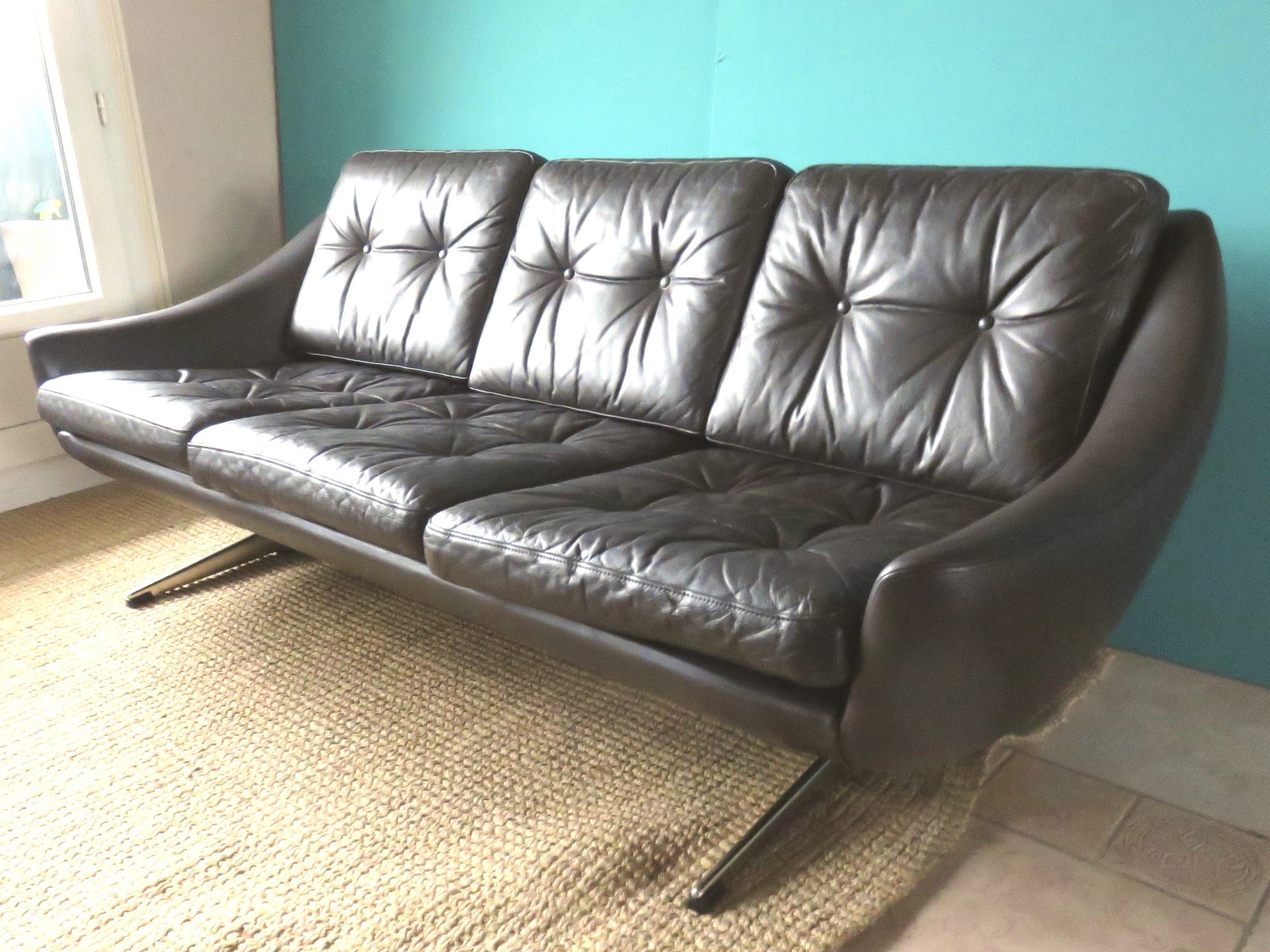 drei sitzer sofa 1972 bei pamono kaufen. Black Bedroom Furniture Sets. Home Design Ideas
