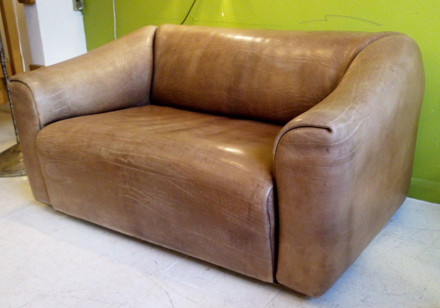 ds 47 zwei sitzer sofa von de sede 1970er bei pamono kaufen. Black Bedroom Furniture Sets. Home Design Ideas