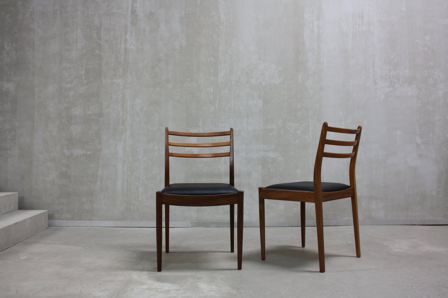 Teak dining chairs by victor wilkins for g plan 1960s for G plan dining room chairs