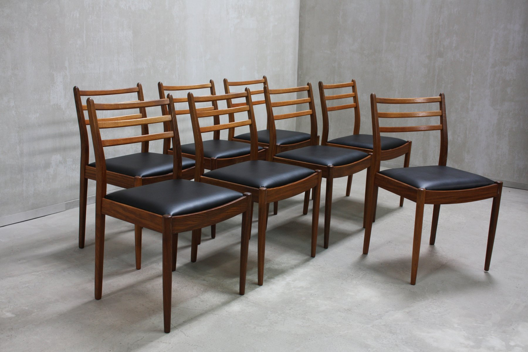 Teak dining chairs by victor wilkins for g plan 1960s for G plan teak dining room chairs