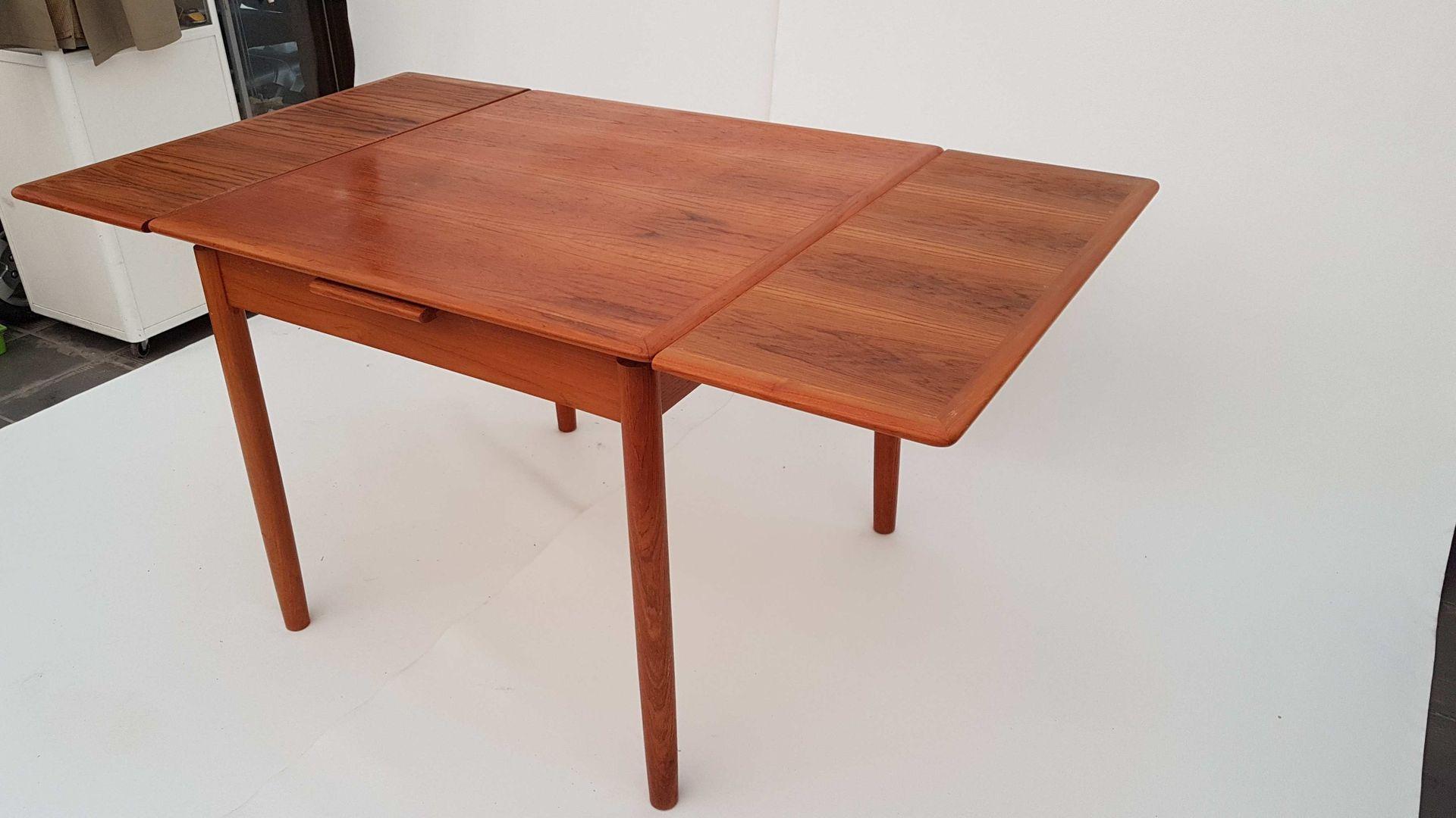 d nischer flip top teak esstisch von poul hundevad f r dogvad mobelfabrik 1960er bei pamono kaufen. Black Bedroom Furniture Sets. Home Design Ideas