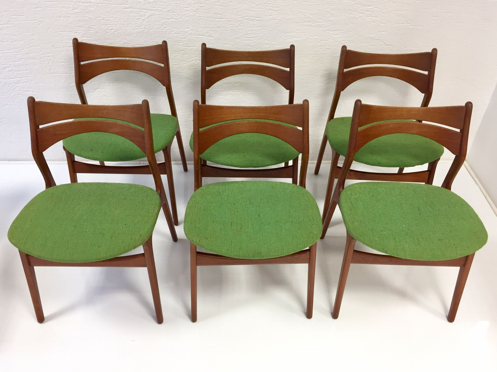 Amazing Vintage Model 310 Danish Teak Chairs By Erik Buch For Chr. Christiansen,  Set Of 6