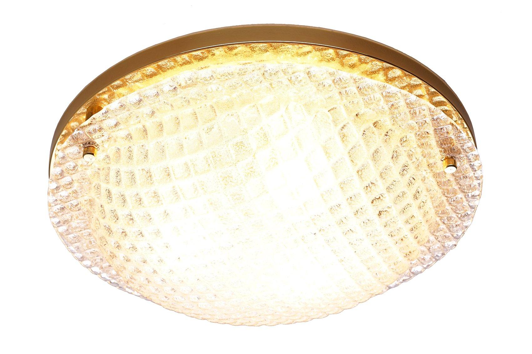 gro e strukturierte vintage glas deckenlampe von fischer leuchten bei pamono kaufen. Black Bedroom Furniture Sets. Home Design Ideas
