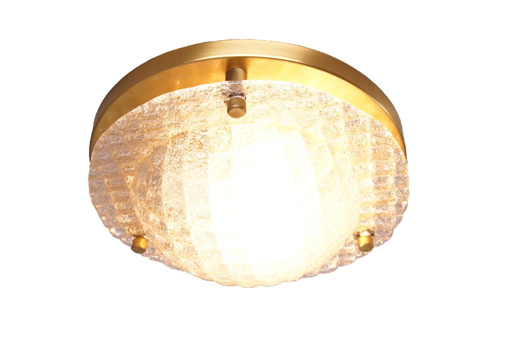 strukturierte vintage glas deckenlampe von fischer leuchten bei pamono kaufen. Black Bedroom Furniture Sets. Home Design Ideas