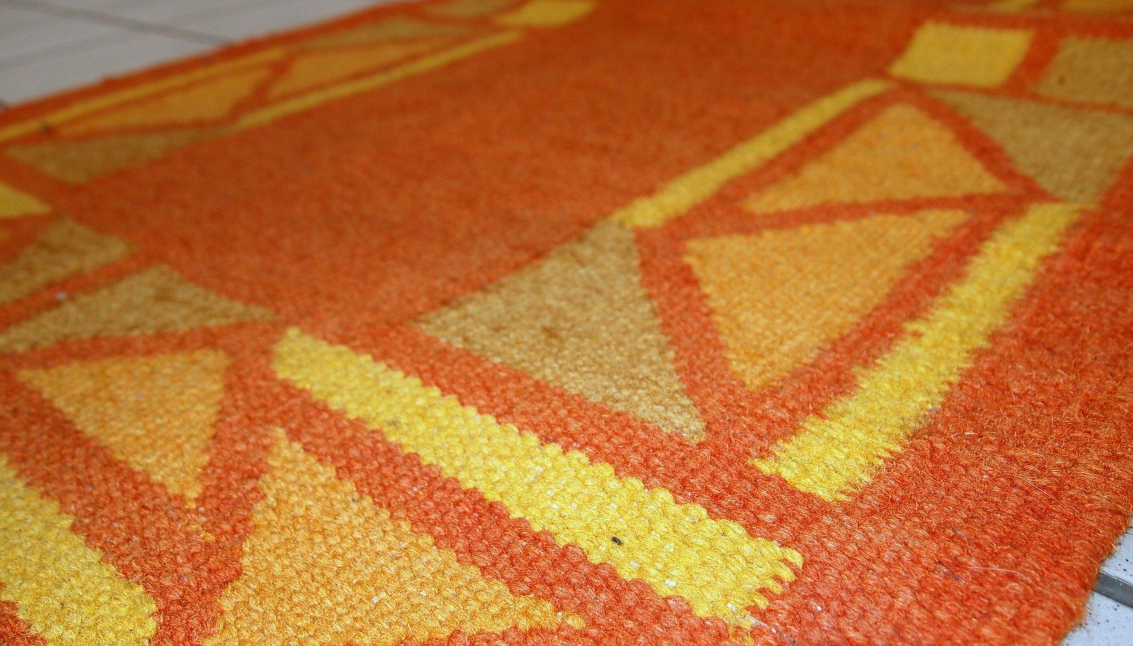 handgekn pfter persischer vintage gabbeh kilim teppich 1970er bei pamono kaufen. Black Bedroom Furniture Sets. Home Design Ideas