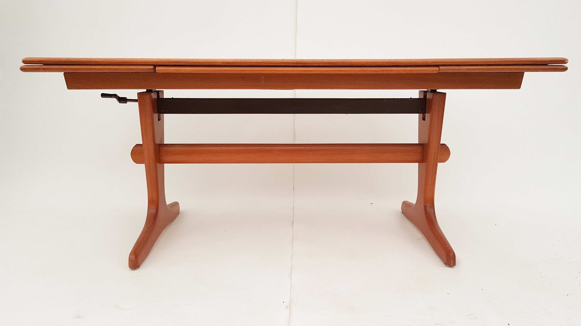 Danish Extendable Adjustable Teak Coffee Or Dining Table
