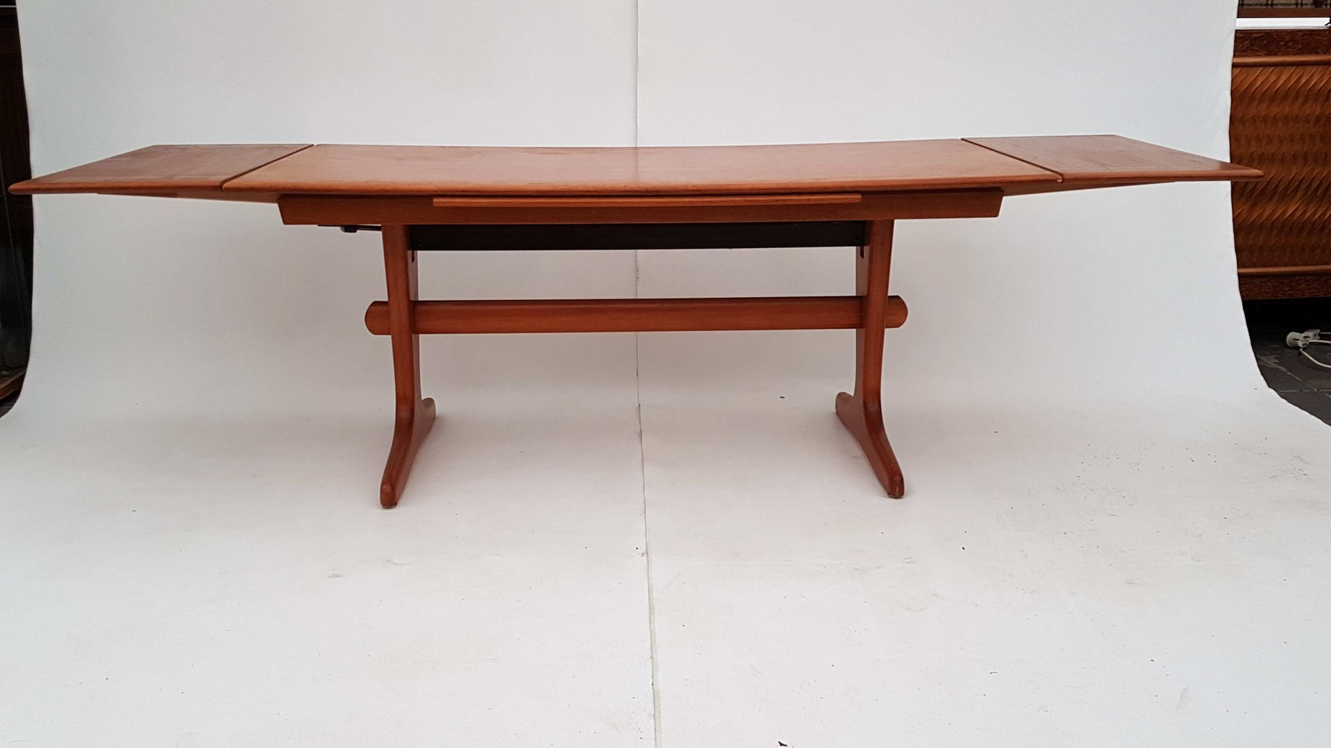 Danish extendable adjustable teak coffee or dining table 1960s for sale at pamono Coffee table dining
