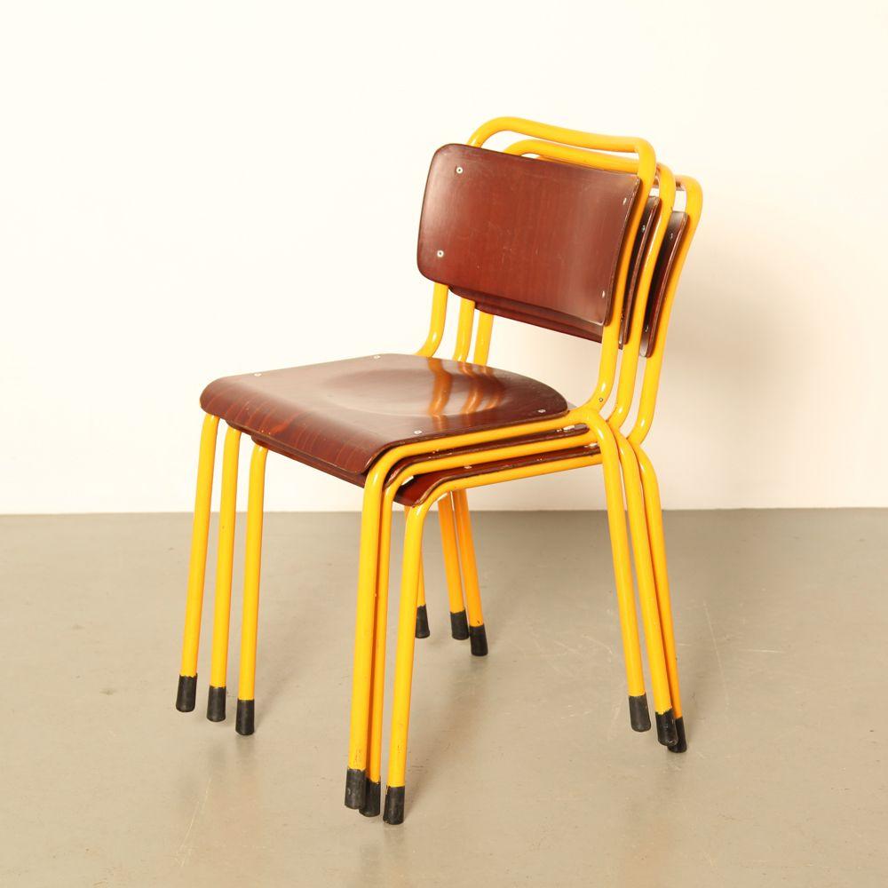 chaise d appoint 1252 de gispen 1960s en vente sur pamono. Black Bedroom Furniture Sets. Home Design Ideas