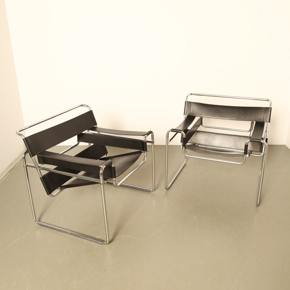 wassily chair by marcel breuer 1960s for sale at pamono. Black Bedroom Furniture Sets. Home Design Ideas