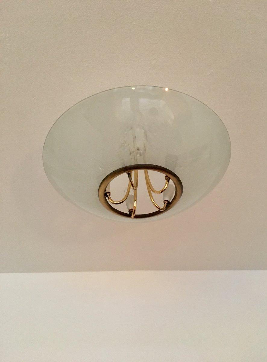 deckenlampe von doria leuchten 1950er bei pamono kaufen. Black Bedroom Furniture Sets. Home Design Ideas