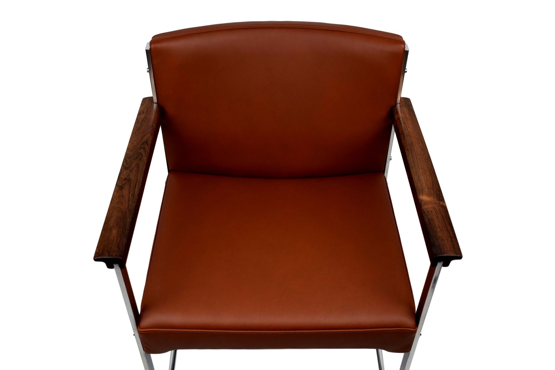 Aniline Leather Chair by Illum Wikkels¸ for P Schultz & Co 1960s