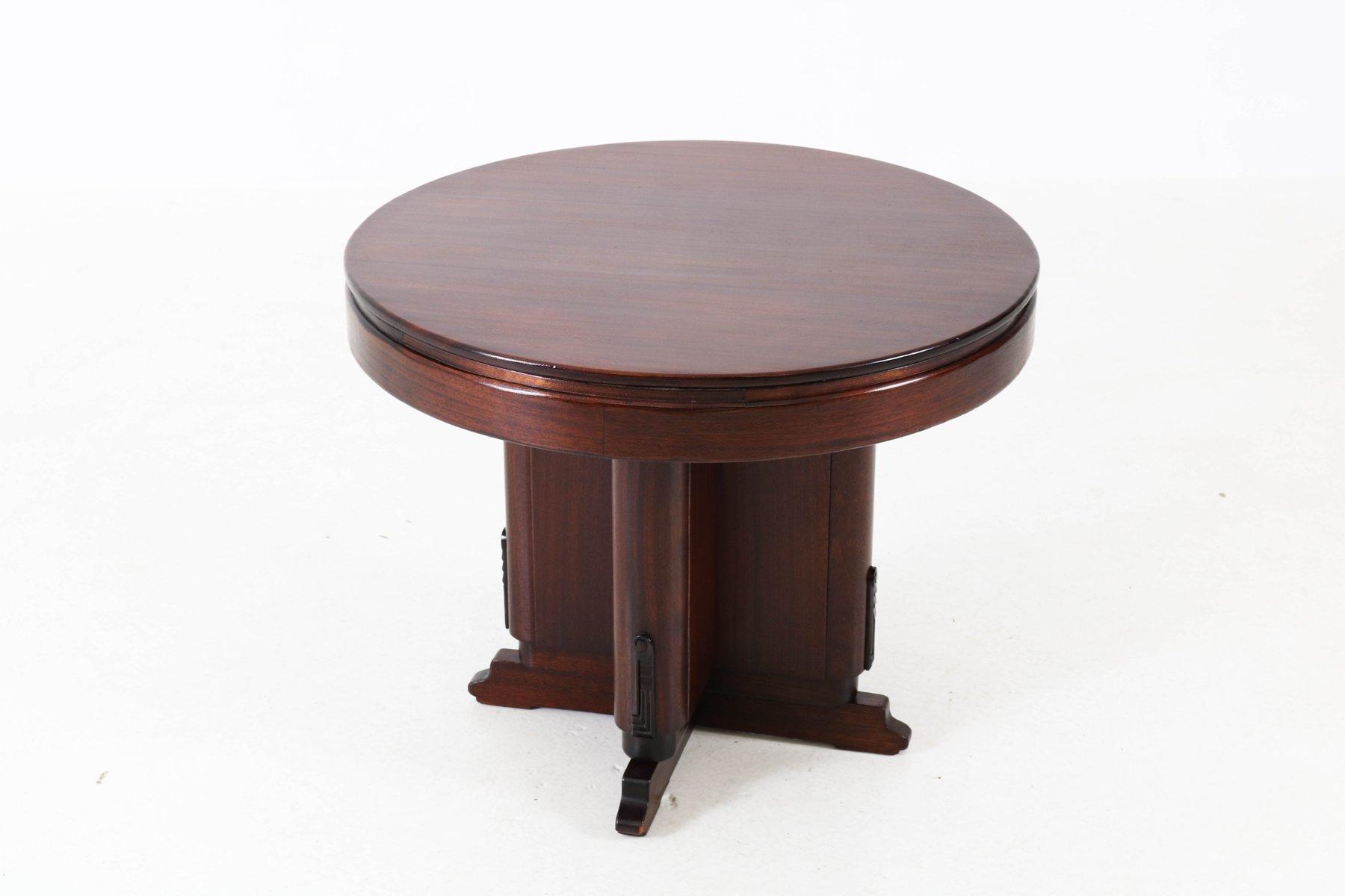 Art Deco Mahogany Coffee Table, 1920s