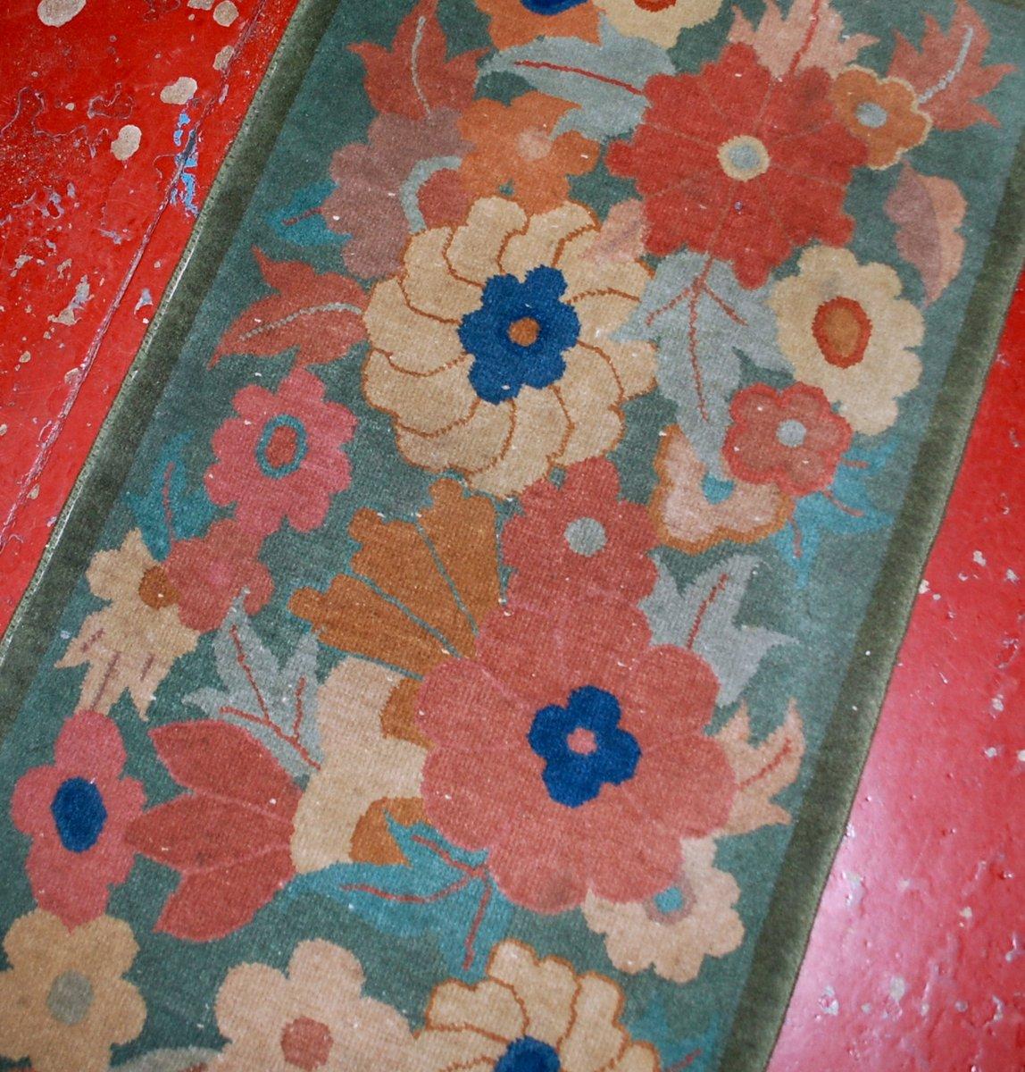 antiker chinesischer art deco teppich 1920er bei pamono kaufen. Black Bedroom Furniture Sets. Home Design Ideas