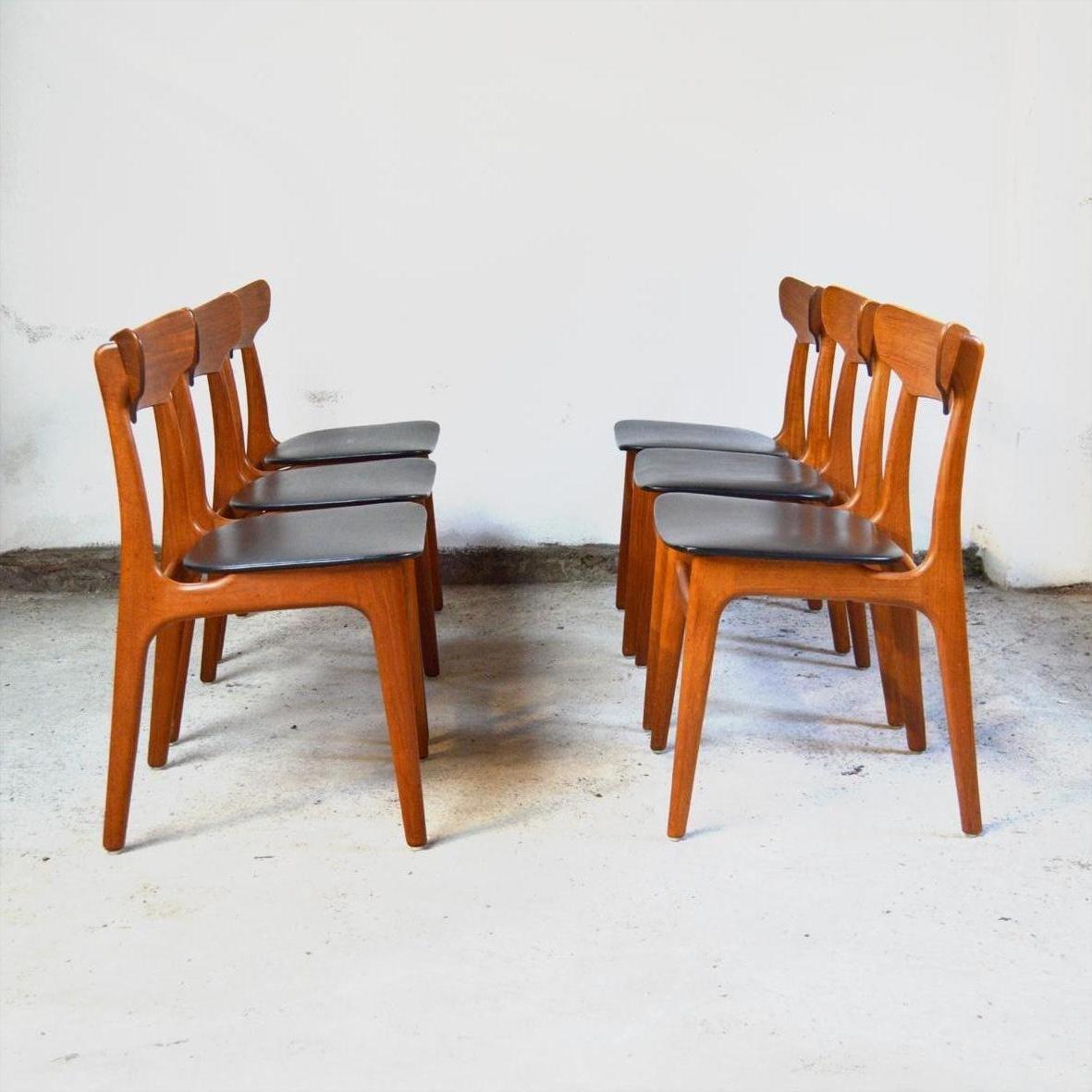 esszimmerst hle von schionning elgaard f r randers. Black Bedroom Furniture Sets. Home Design Ideas