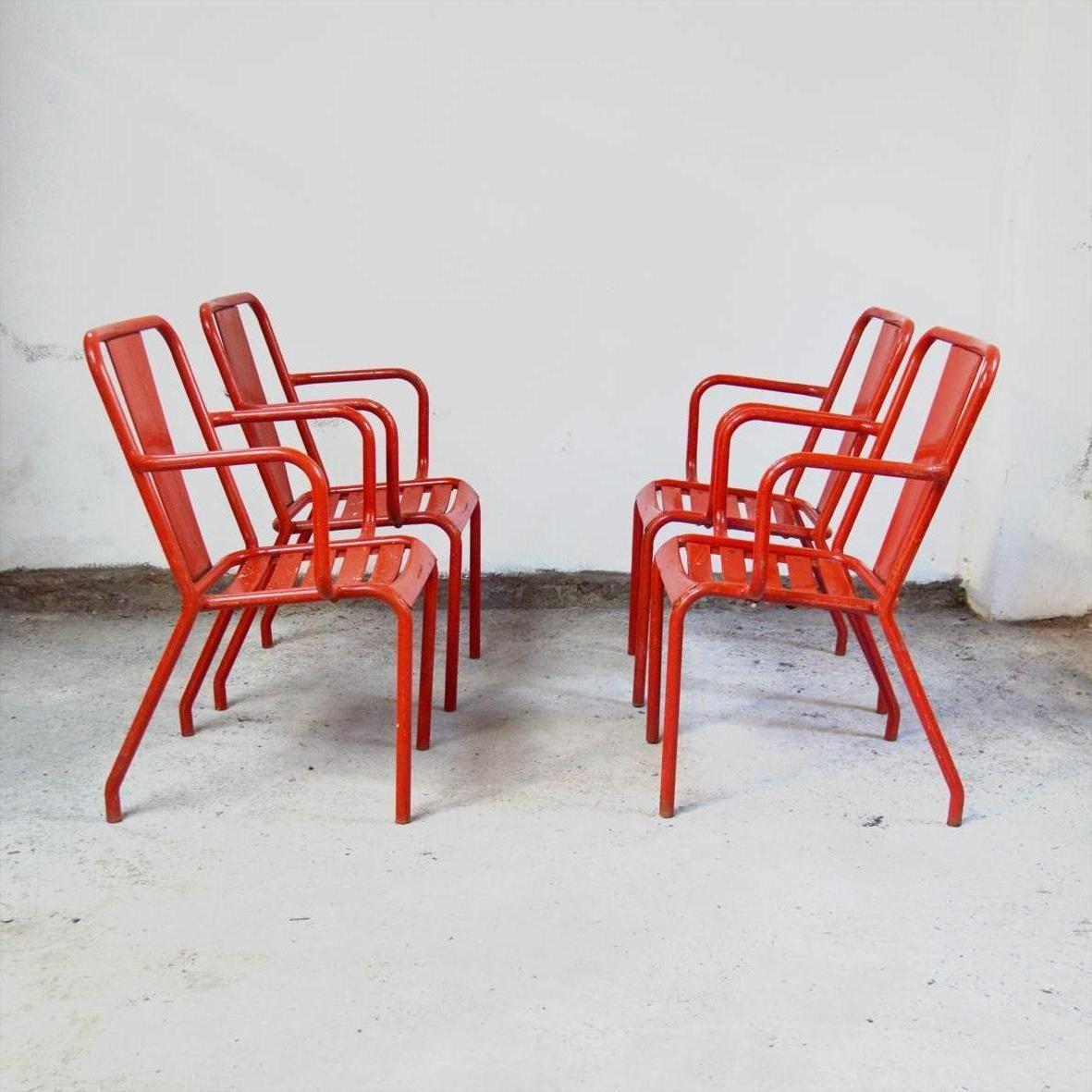 t4 st hle von tolix 1950er 4er set bei pamono kaufen. Black Bedroom Furniture Sets. Home Design Ideas