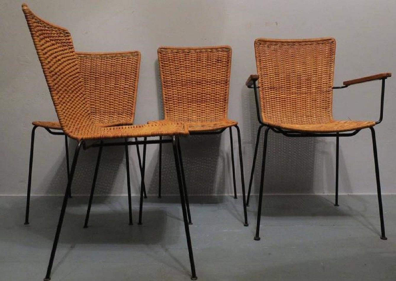 esszimmerst hle 1960er 4er set bei pamono kaufen. Black Bedroom Furniture Sets. Home Design Ideas