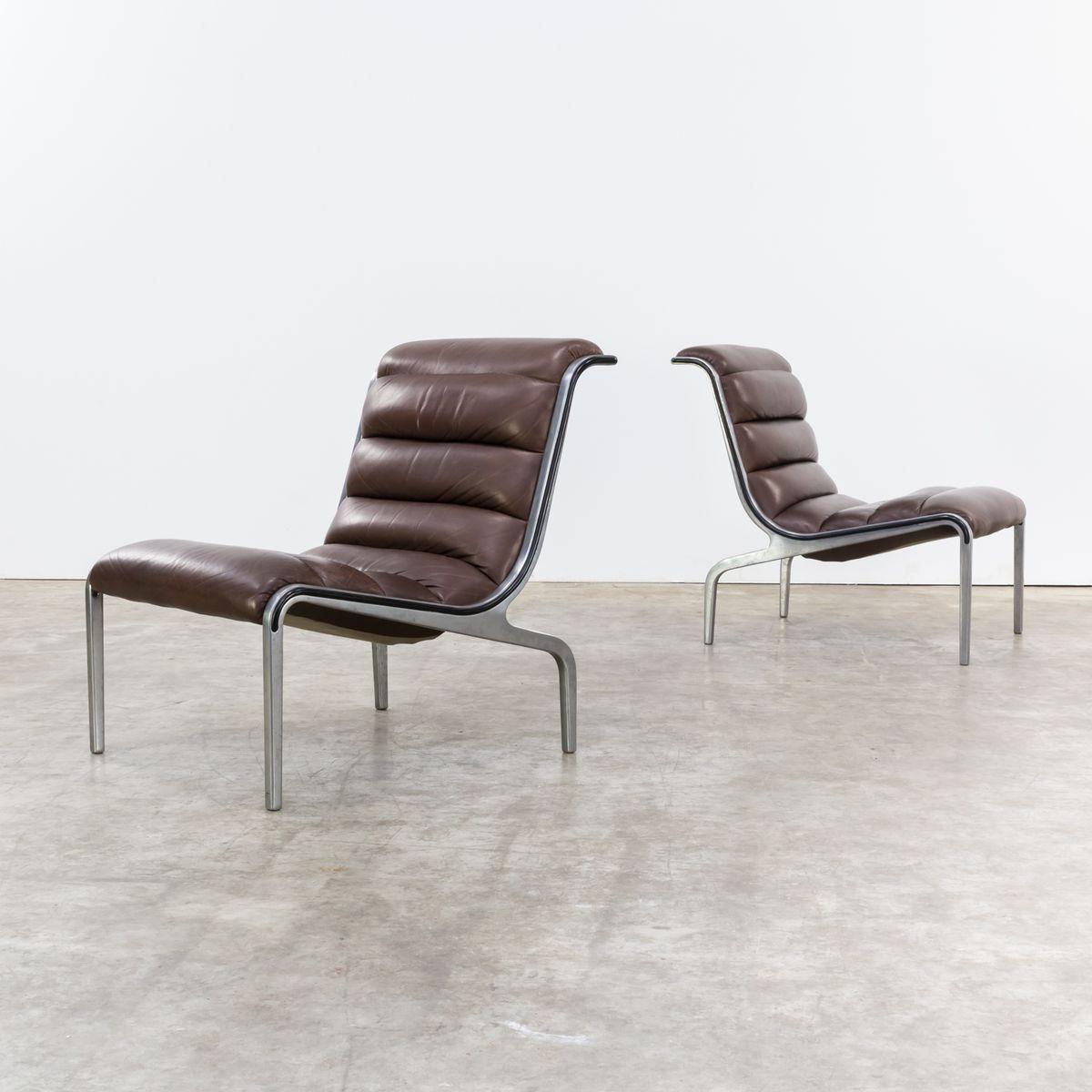 sessel mit niedriger r ckenlehne 1970er 4er set bei. Black Bedroom Furniture Sets. Home Design Ideas