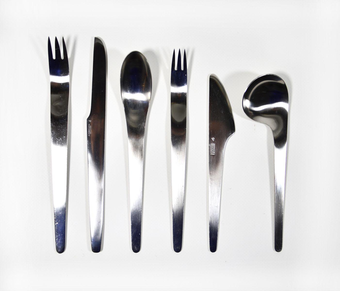 Mid century model 660 aj flatware cutlery set by arne jacobsen for anton michelsen for sale at - Arne jacobsen flatware ...