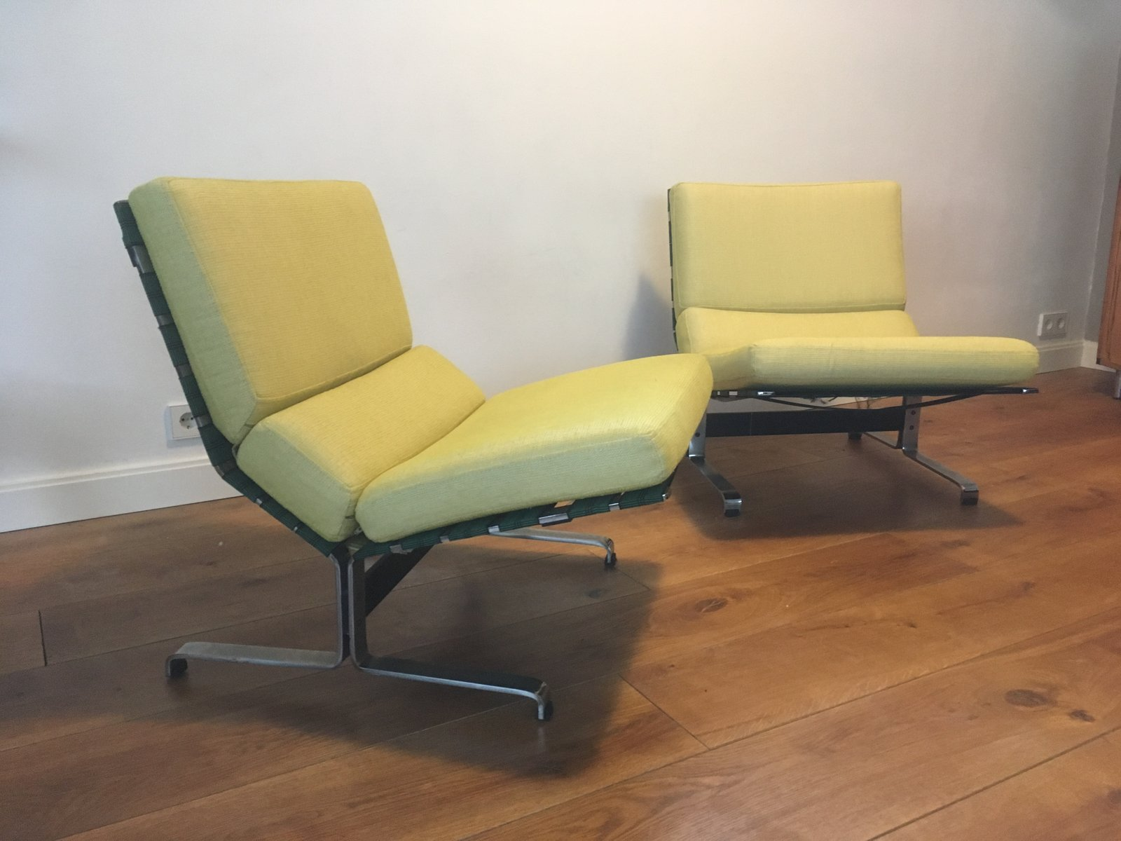 lounge chairs by etienne fermigier for meuble et fonction 1960s set of 2 for sale at pamono. Black Bedroom Furniture Sets. Home Design Ideas