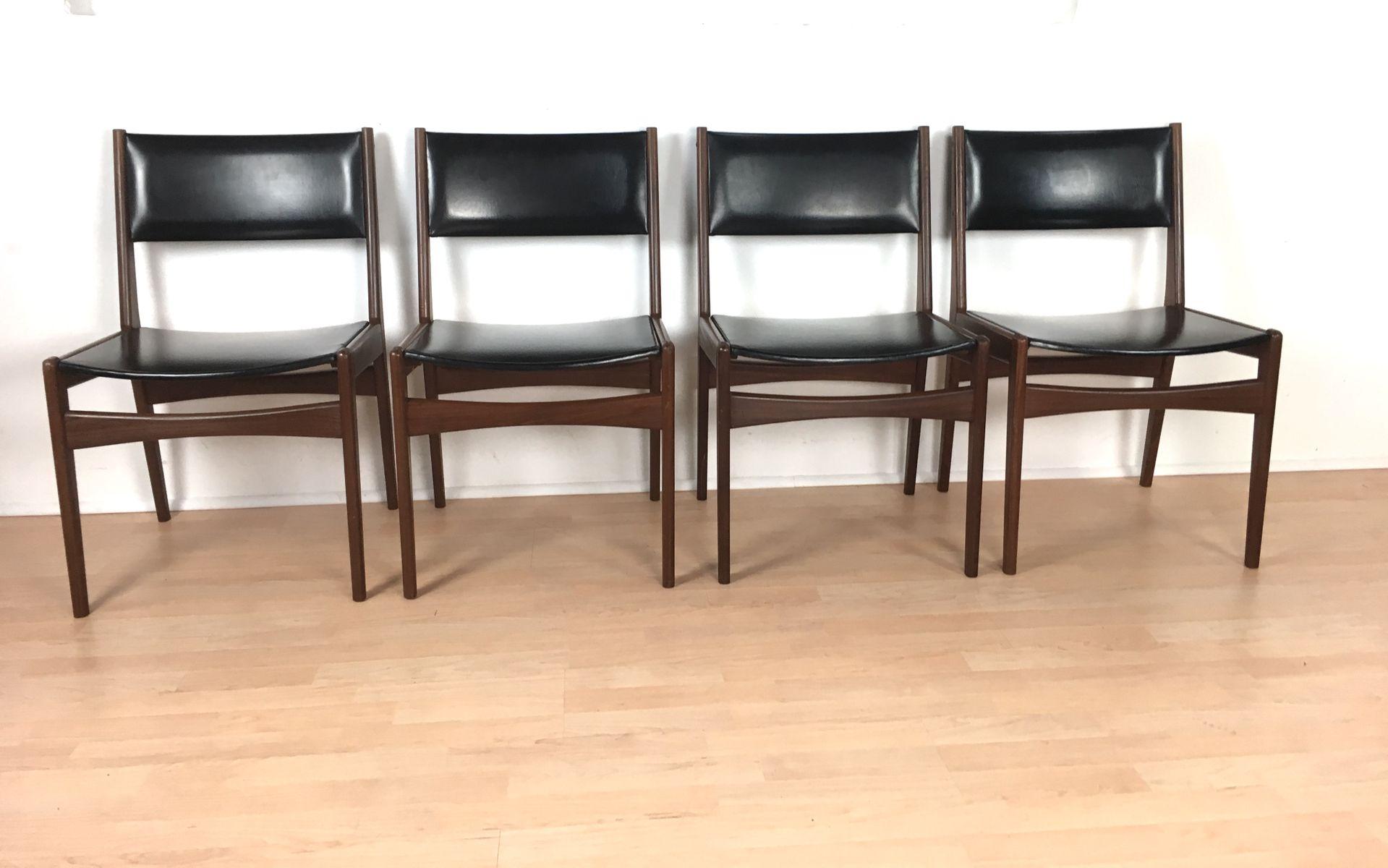 d nische teak st hle von frem r jle 1960er 4er set bei pamono kaufen. Black Bedroom Furniture Sets. Home Design Ideas