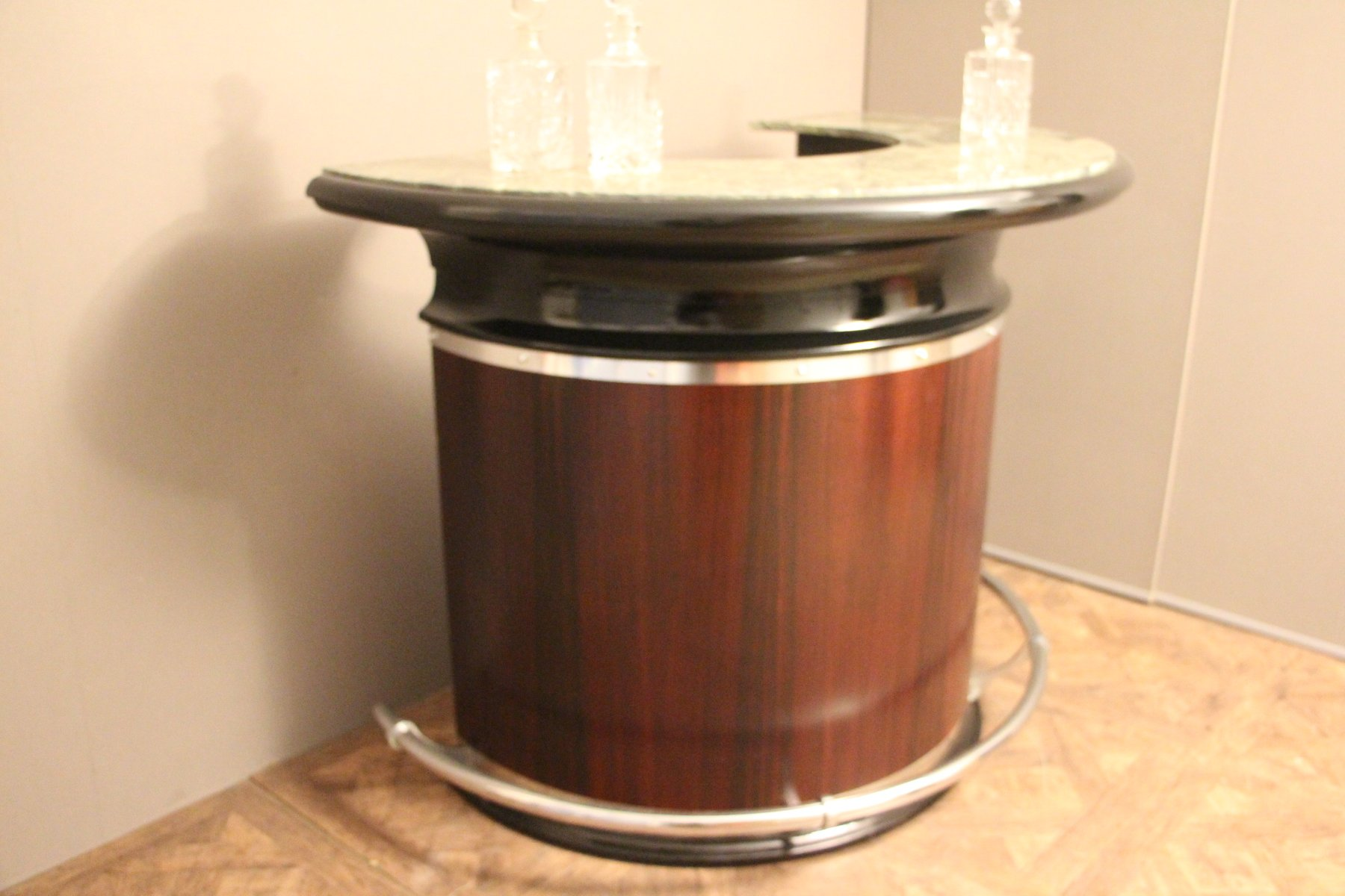 Mid Century Italian Half Moon Dry Bar Counter For Sale At
