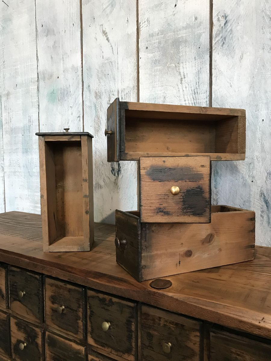 Vintage pine cabinet with drawers for sale at pamono for Kitchen drawers for sale