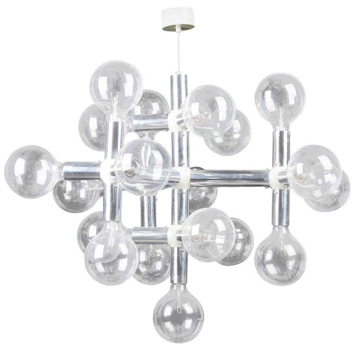 Atomic chandelier by robert haussmann for swiss lamps atomic chandelier by robert haussmann for swiss lamps international 1960s arubaitofo Choice Image