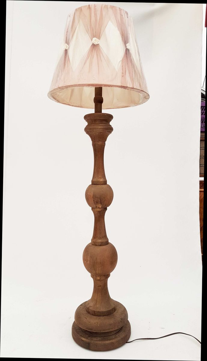 German solid oak floor lamp 1950s for sale at pamono german solid oak floor lamp 1950s geotapseo Images