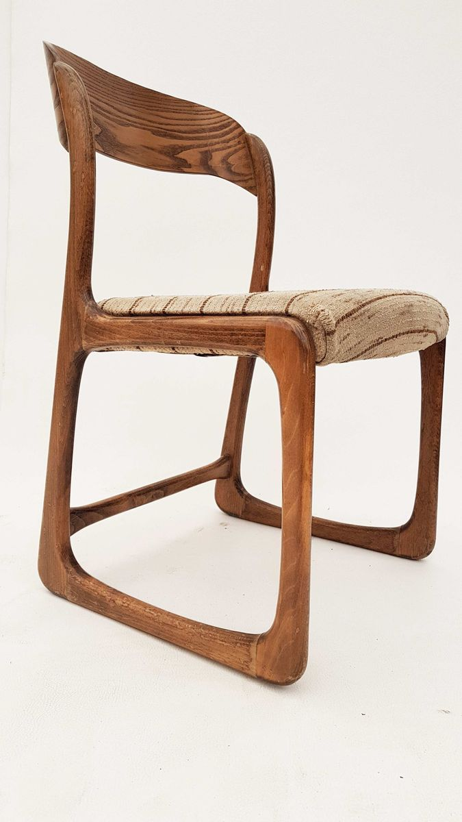 Deutscher mid century eichenholz stuhl 1960er bei pamono kaufen - Mid century stuhl ...