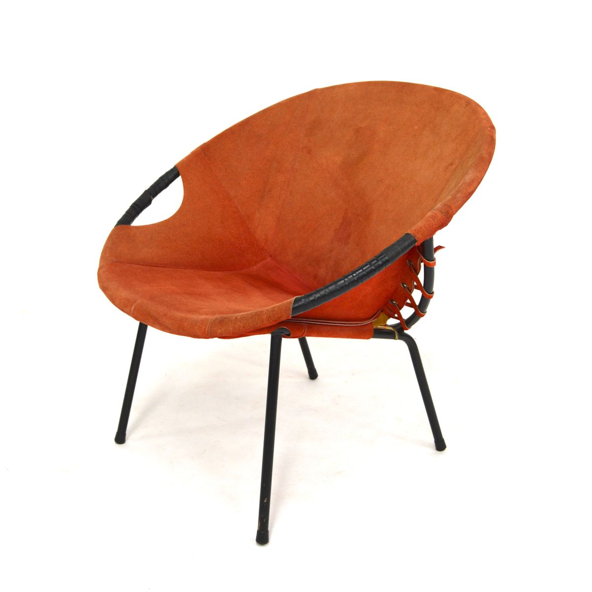 vintage circle chair from lusch co for sale at pamono. Black Bedroom Furniture Sets. Home Design Ideas