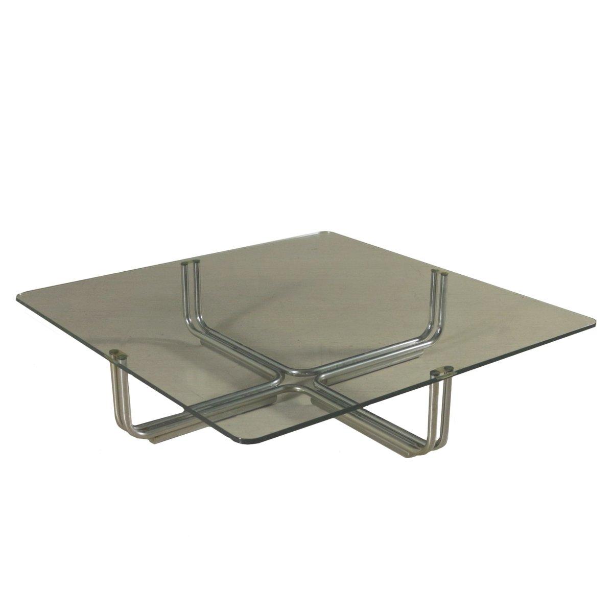 tisch mit platte aus kristall von gianfranco frattini f r cassina 1970er bei pamono kaufen. Black Bedroom Furniture Sets. Home Design Ideas