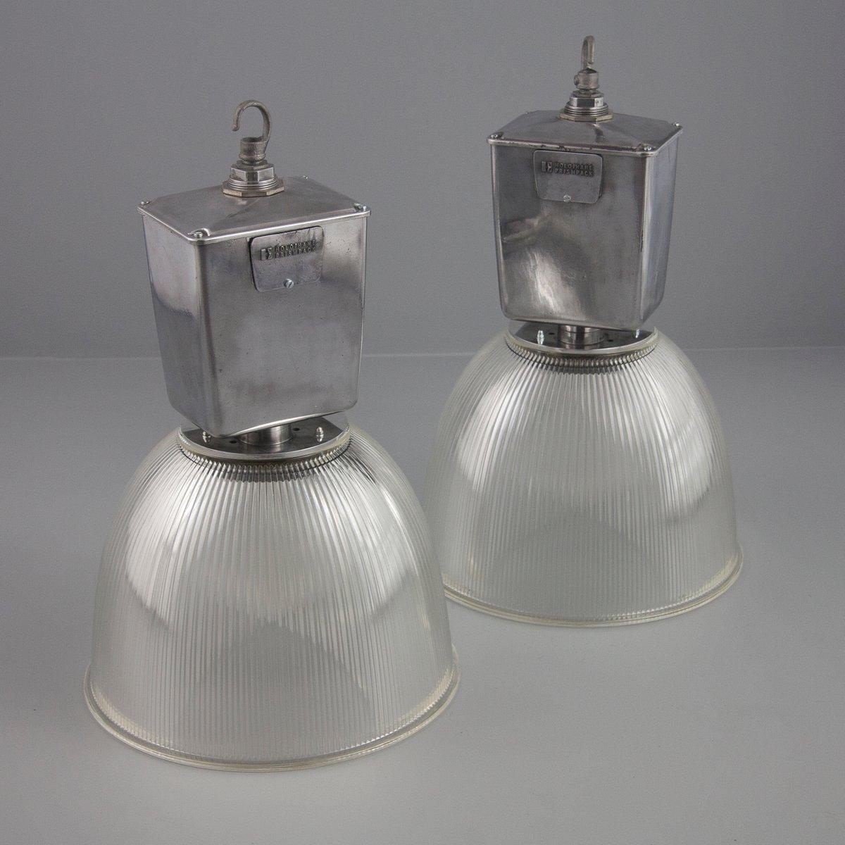 Lampe suspension vintage industrielle par holophane en vente sur pamono - Lampe vintage industrielle ...