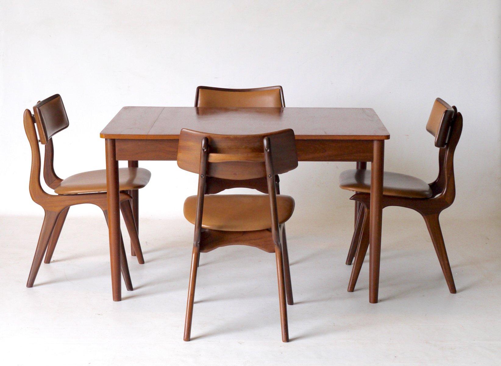 teak esszimmer set von louis van teeffelen f r webe 1960er bei pamono kaufen. Black Bedroom Furniture Sets. Home Design Ideas