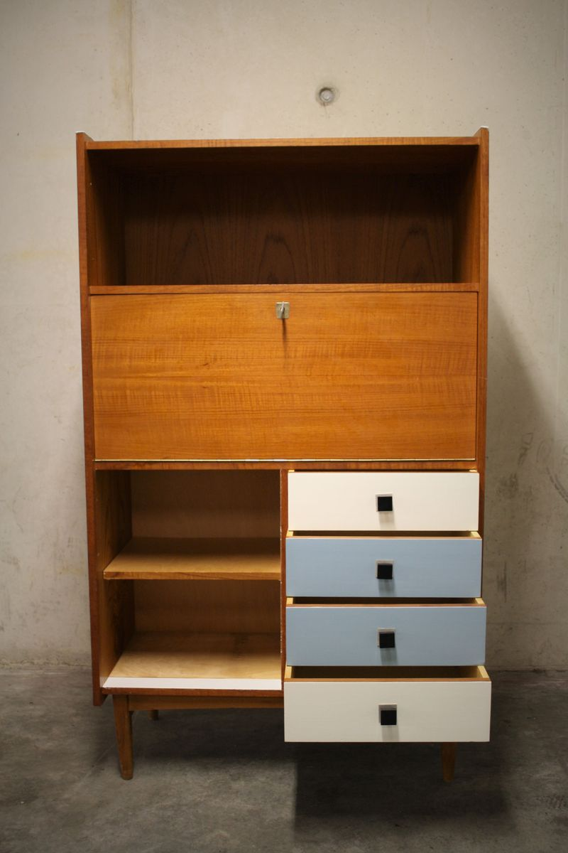 belgischer mid century schrank aus holz 1960er bei pamono kaufen. Black Bedroom Furniture Sets. Home Design Ideas