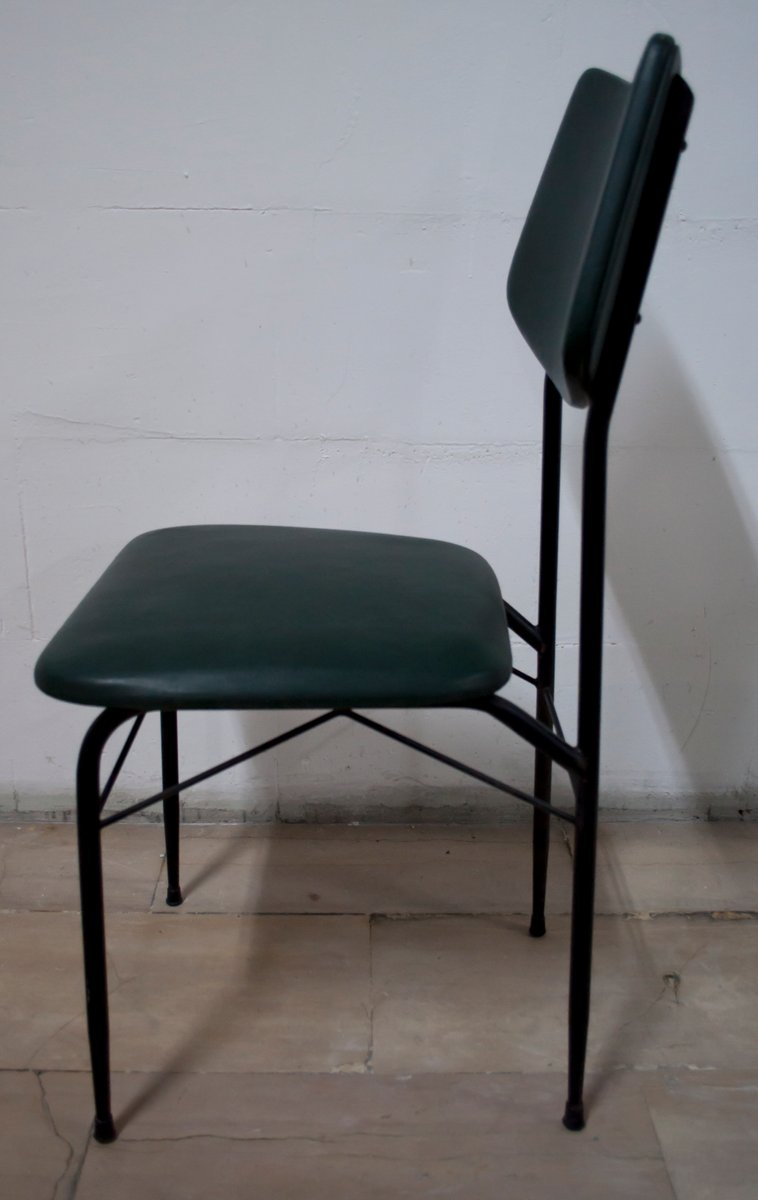 mid century dining table and six chairs 1950s for sale at pamono. Black Bedroom Furniture Sets. Home Design Ideas