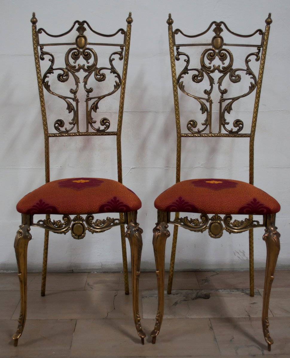 Italian Neoclassical Style Chairs 1950s Set Of 2 For