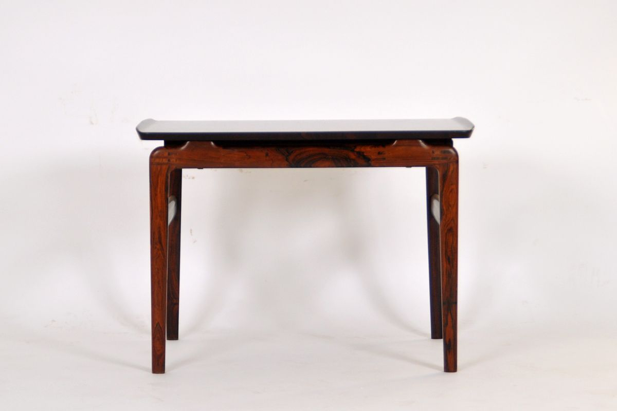 Danish Rosewood \u0026 Black Formica Coffee Table by Peter Hvidt \u0026 Orla ...