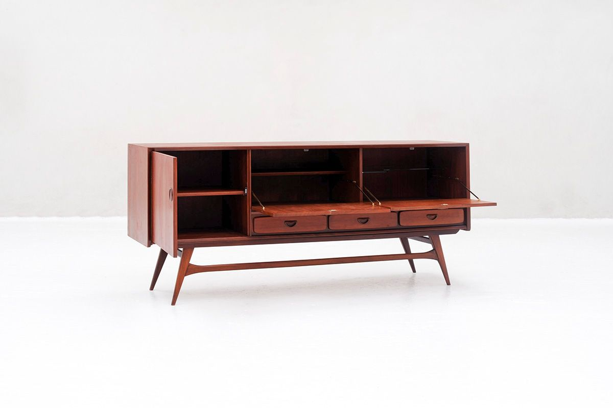 Vintage sideboard by louis van teeffelen for w b for sale for Sideboard 2 m breit