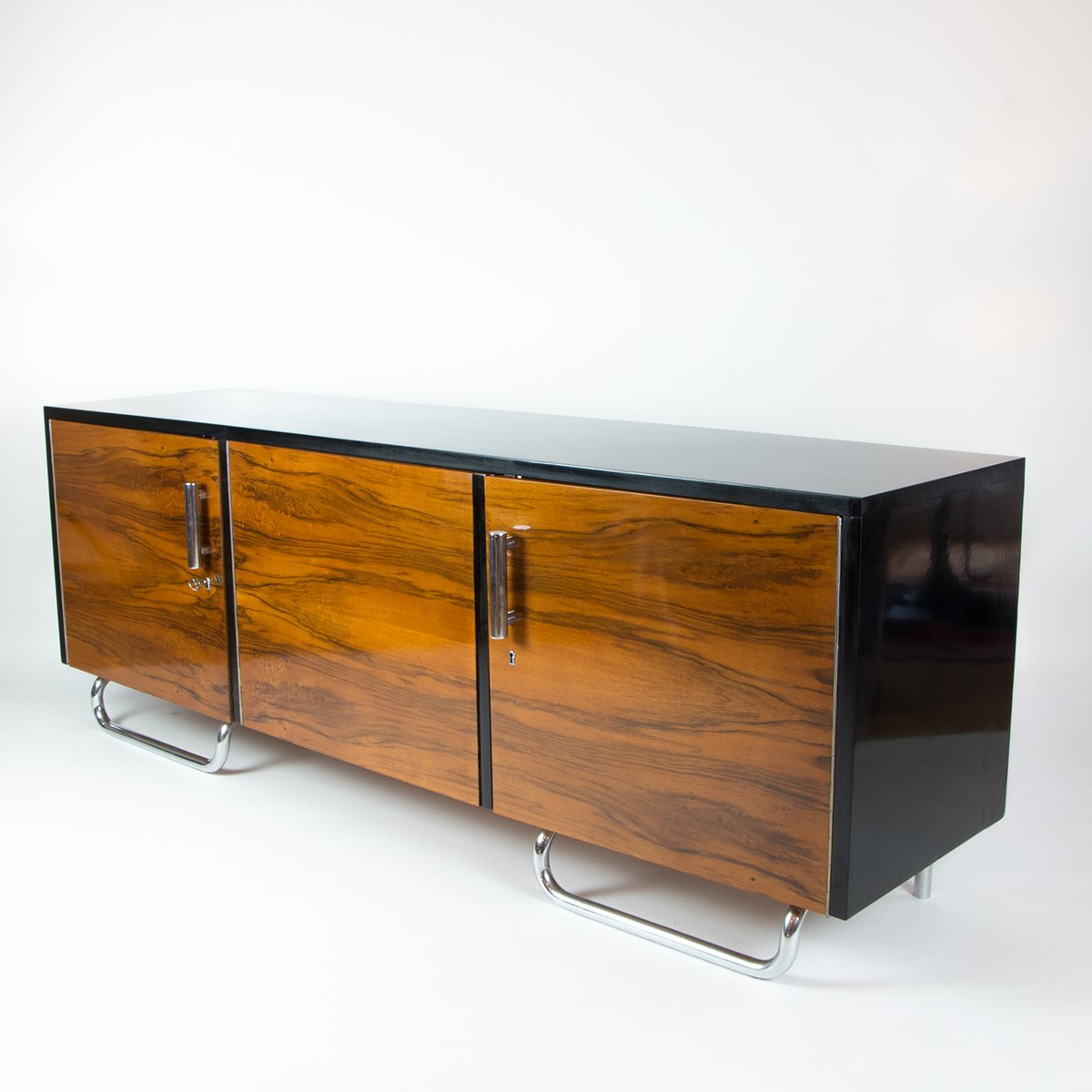 sideboard bauhaus rare and important art deco bauhaus sideboard or credenza swiss design. Black Bedroom Furniture Sets. Home Design Ideas