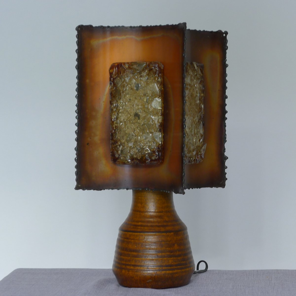 Nice Vintage Ceramic Table Lamp From Accolay